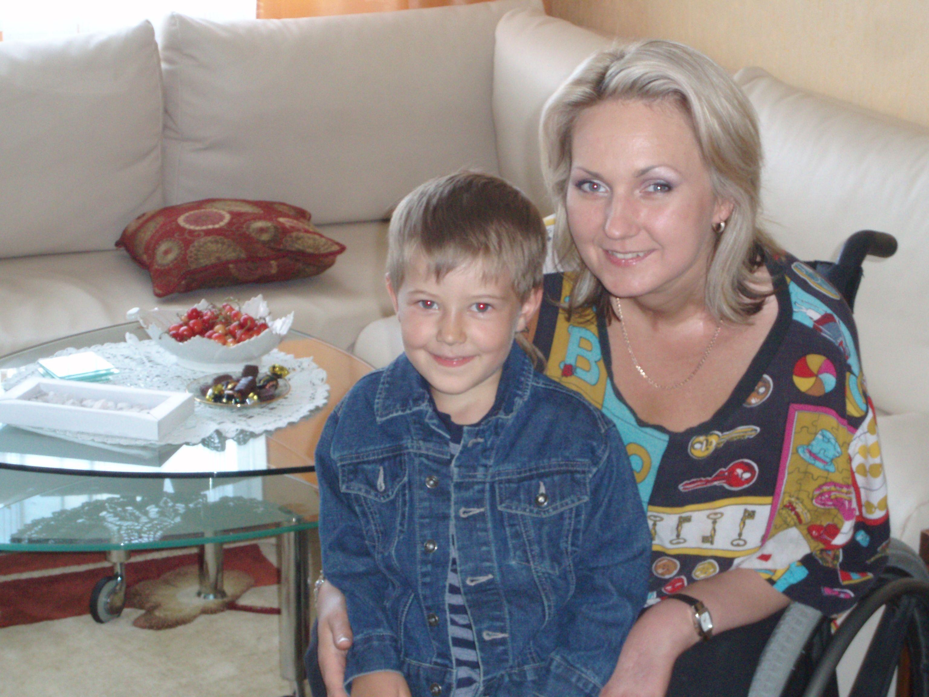 with Mantas, my nephew