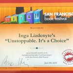 San Francisco Book Festival Certificate of recognition